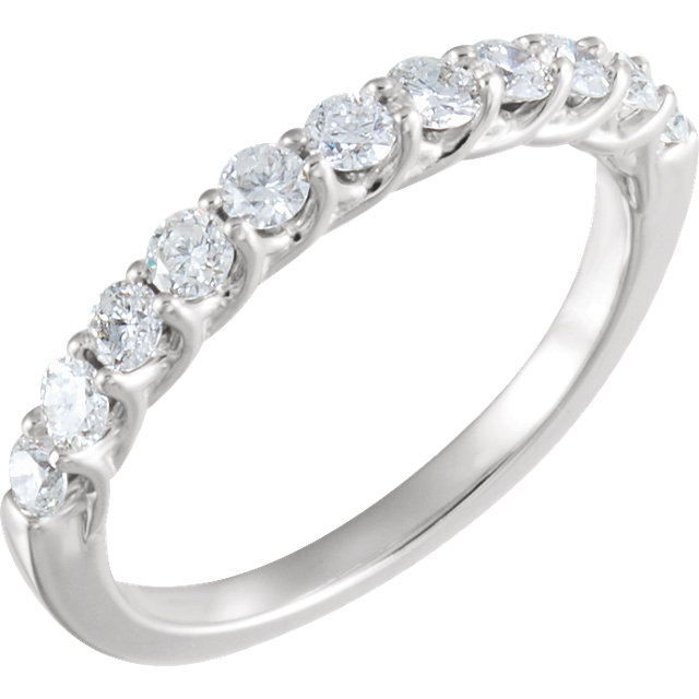 14kt White 5/8 CTW Diamond Band