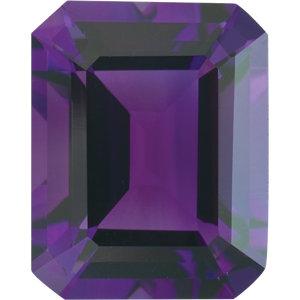 Amethyst Emerald 0.28 carat Purple Photo