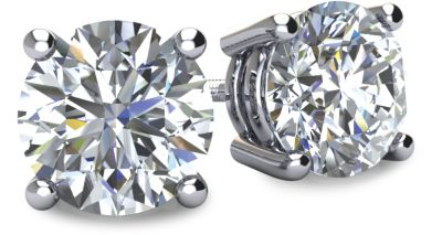 Diamond Stud Earrings - Round