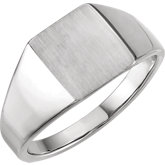 Men's Rectangle Closed Back Signet Ring