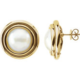 Mabé Cultured Pearl Earrings