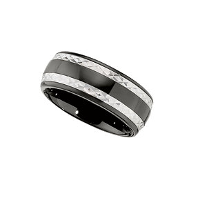 Ceramic Couture® & Sterling Silver 8mm Band Size 6.5