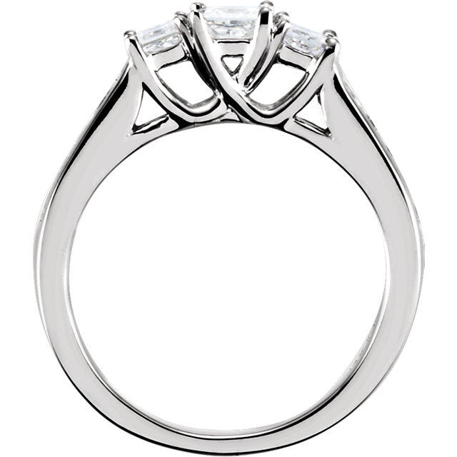 14K White 7/8 CTW Diamond Engagement Ring