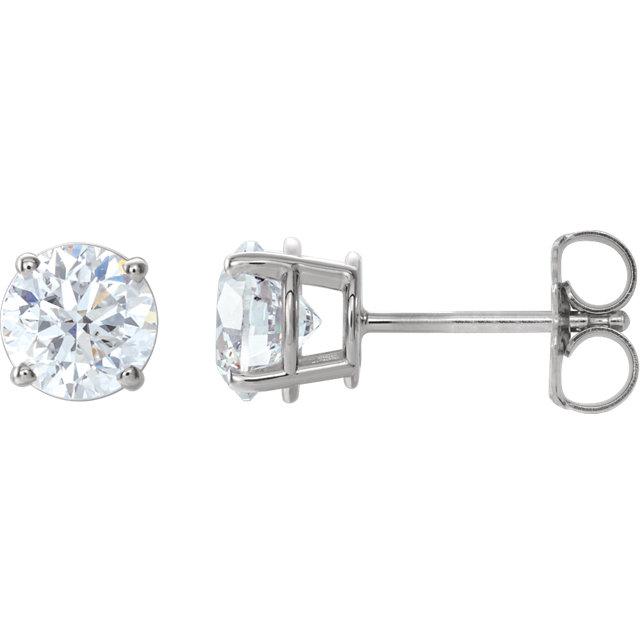 14K White 1 1/2 CTW Diamond Earrings