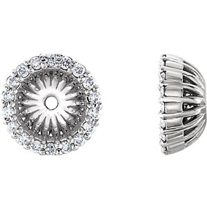 Earring Jackets, Platinum 1/5 CTW Diamond Cluster Earring Jackets