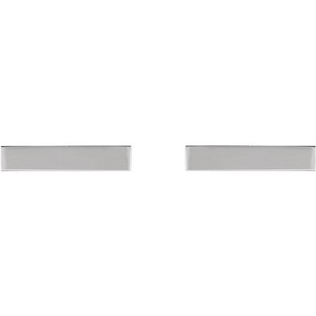 Sterling Silver Bar Earring