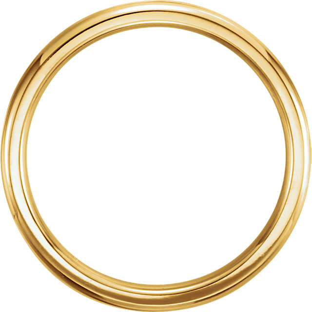 14K Yellow 2mm Comfort-Fit Milgrain Band Size 5