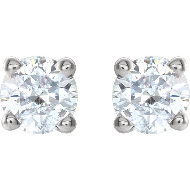 Platinum 1/4 CTW Diamond Earrings