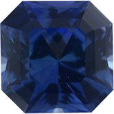 Asscher Cut Princess Genuine Blue Sapphire (Black Box)