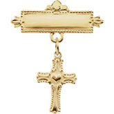 Cross Baptismal Pin
