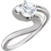 4-Prong Solitaire Engagement Ring or Band