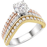 Multi-color Engagement Ring or Band