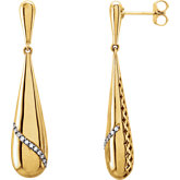 Pierced-Style Teardrop Earrings