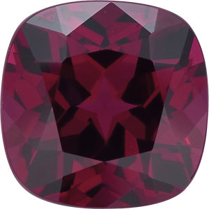 Garnet Cushion 0.62 carat Reddish Purple Photo