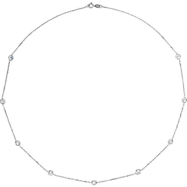 14K White Cubic Zirconia 18
