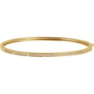 Bracelet, 14K Yellow 0.33 CTW Diamond Bangle Bracelet