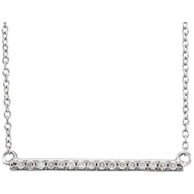 14K White 1/6 CTW Diamond Bar 18