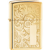 Zippo® Venetian® High Polish Brass Lighter