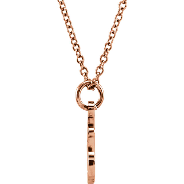 14K Rose Tiny Posh® Petite Anchor 16-18