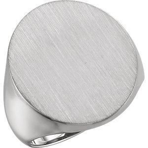 Fashion Rings , 18K X1 White 22x20mm Men's Hollow Signet Ring