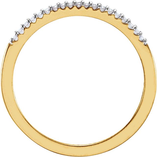 14K Yellow .08 CTW Diamond Band Size 7