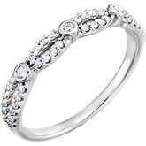 Infinity-Inspired Engagement Ring or Band