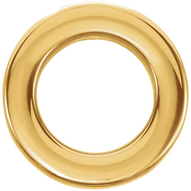 14K Yellow 13 mm Circle Chain Slide
