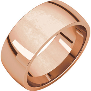10K Rose 8 mm Lightweight Comfort-Fit Band