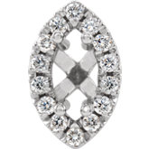 Marquise 4-Prong French-Set Halo-Style Peg Setting
