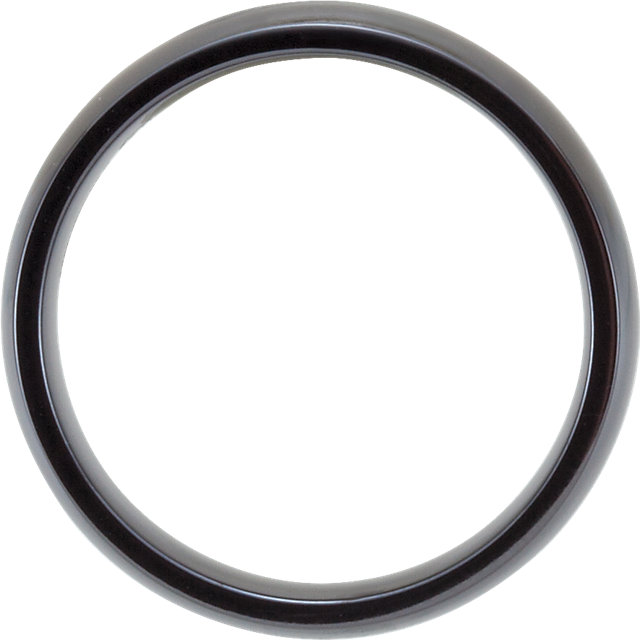 Black Titanium 6 mm Domed Polished Band Size 11.5