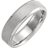 Comfort-Fit Knurled Beveled Edge Band