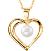 Heart Necklace for Pearl