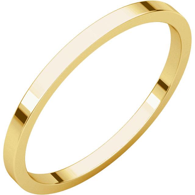 10K Yellow 1.5 mm Flat Band