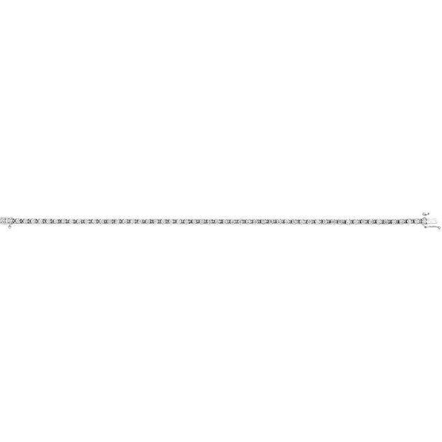 14K White 2 CTW Diamond Line 7.25