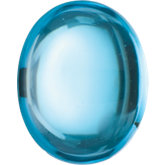 Oval Genuine Cabochon Swiss Blue Topaz