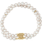 Panache® Freshwater Cultured Pearl Double Strand Bracelet