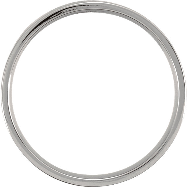 Titanium 4mm Flat Polished Band Size 5