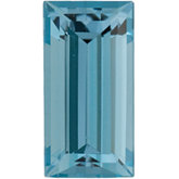 Straight Baguette Genuine Aquamarine
