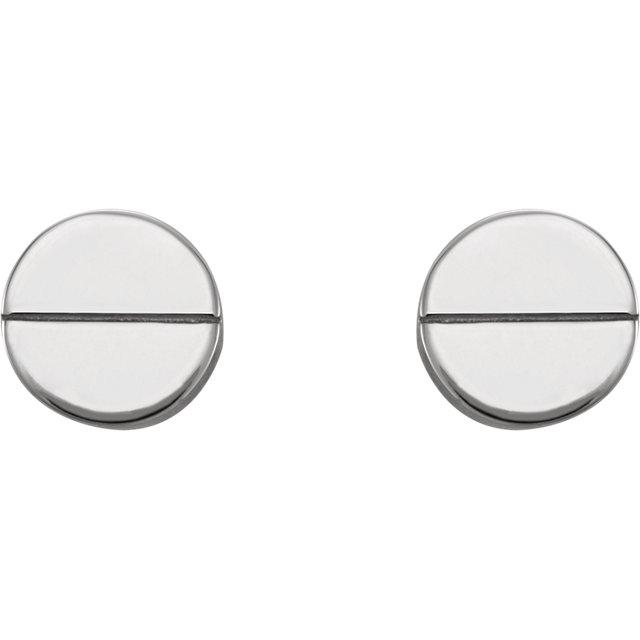 Sterling Silver Geometric Earrings with Backs