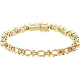 Oval Accented Line Bracelet