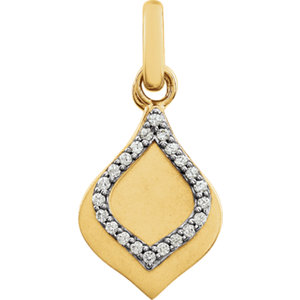 14K Yellow .08 CTW Diamond Pendant
