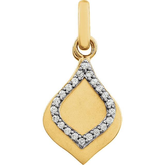 14K Yellow .08 CTW Diamond Pendant