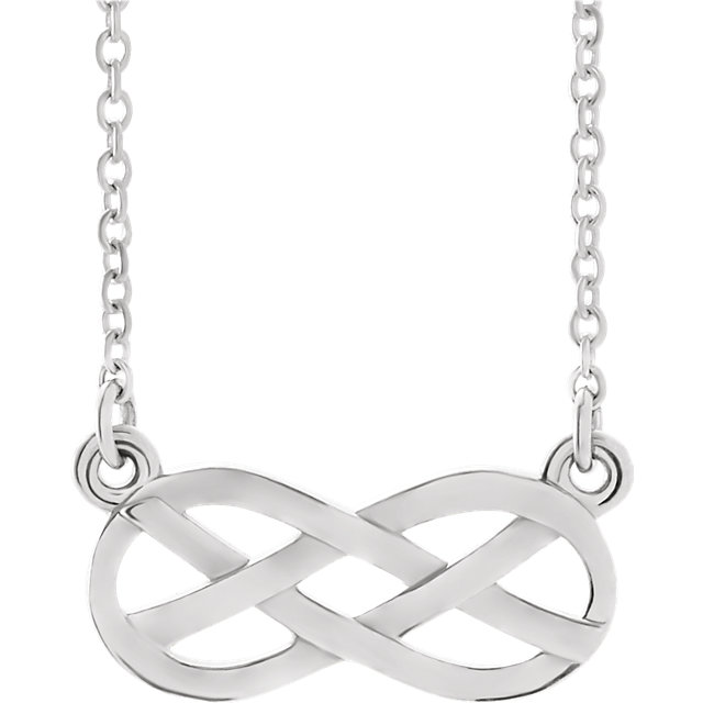 14K White Infinity-Inspired Knot Design 18