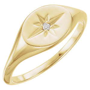 14K Yellow .02 CTW Diamond Ring