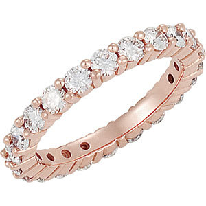 18K Rose Eternity Band Mounting