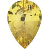 Pear Natural Yellow Sapphire