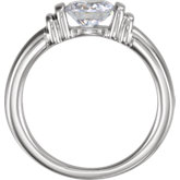 Bar Set Solitaire Engagement Ring