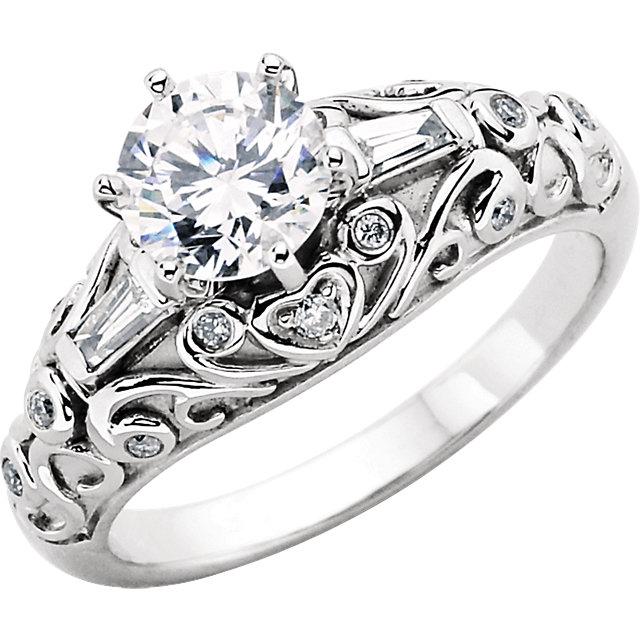 Vintage-Style Engagement Ring Base