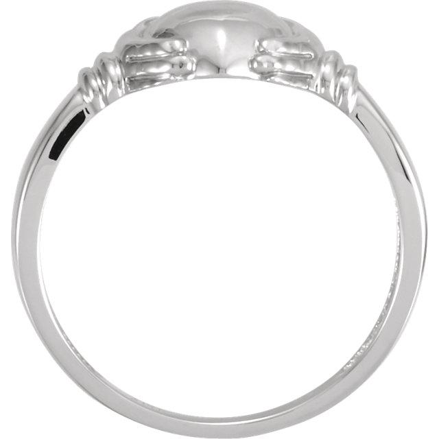 14K White Ladies Claddagh Ring