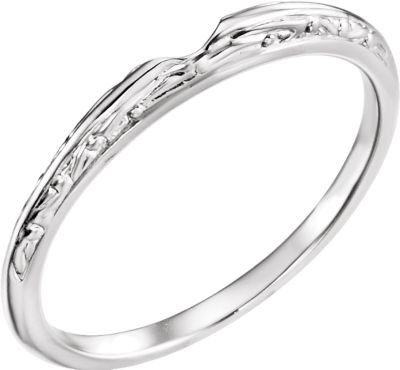 14K White Band for 4.1mm Round Ring